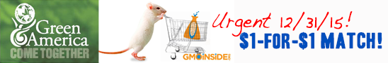 GMO Inside's Matching Gift Campaign Dollar-for-Dollar matching gift!