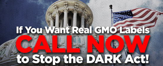 Call the White House and tell to veto the sham GMO labeling bill