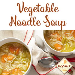 Recipe for Vegetable Noodle Soup with Kamut
