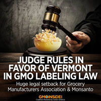 judge rules in favor of Vermont in GMO labeling law