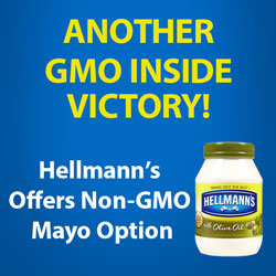 another GMO Inside victory! Hellmann's offers non-GMO mayo option
